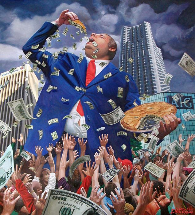 Капитализм — это экономическая система, основанная на праве частной собственности, юридическом равенстве и свободе предпринимательства. Главная цель бизнесмена в этой системе — наращивание капитала. Подробнее об её истории рассказали Алан Гринспен и Адриан Вулдридж в книге «Капитализм в Америке», а мы рассказываем о том, почему капитализм закрепился именно в США. Во многих странах капитализм устойчиво ассоциировался с элитой, этакая религия богачей, которая позволяет тем высасывать деньги из бедняков. Но в Америке он всегда подразумевал открытость и новые возможности. Американский капитализм давал тем, кто был рожден в безвестности, шанс пробиться к высшим ступеням в обществе.